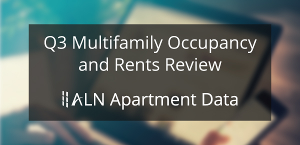 Q3 Multifamily Occupancy and Rents Review