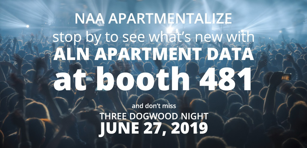 ALN Apartment Data in Booth 481 at NAA