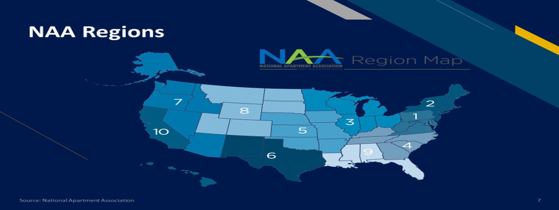 NAA Region Map