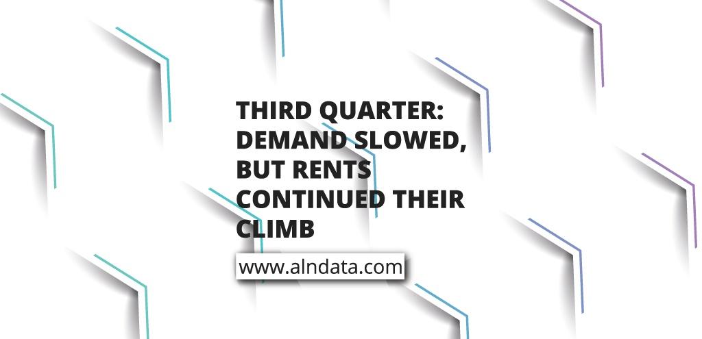 Third Quarter: Demand Slowed, but Rents Continued Their Climb